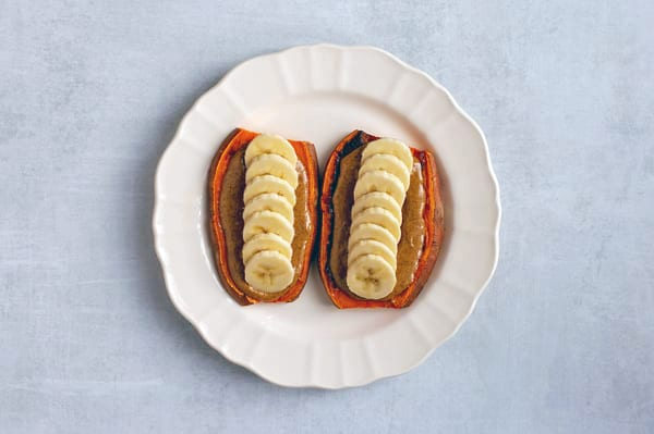 sweet potato toast - toast with banana