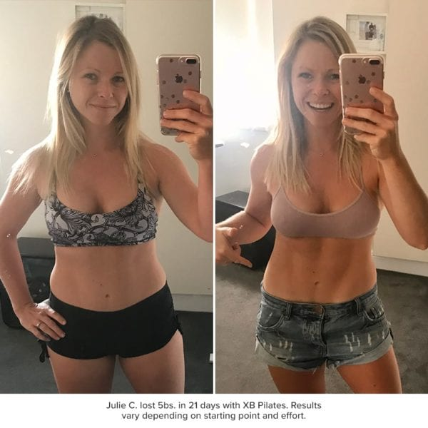 xb pilates results - julie cooper before and after