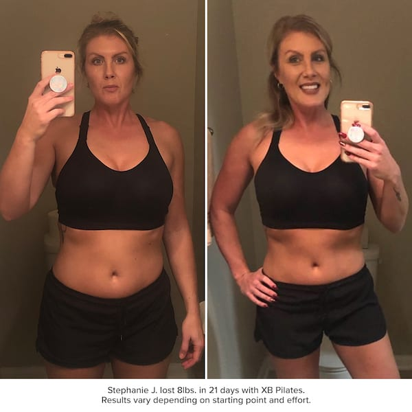 xb pilates results - stephanie johnson before and after