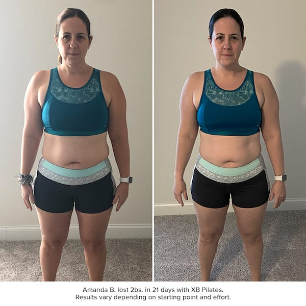 xb pilates results - amanda berisford before and after