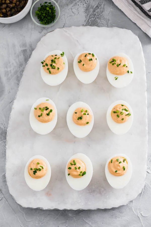 healthy summer recipes - healthier deviled eggs