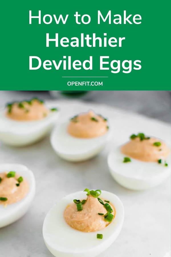 healthier deviled eggs - pin image