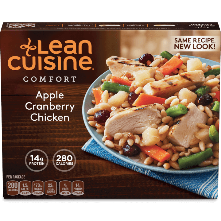 healthy microwave meals - lean cuisine apple chicken