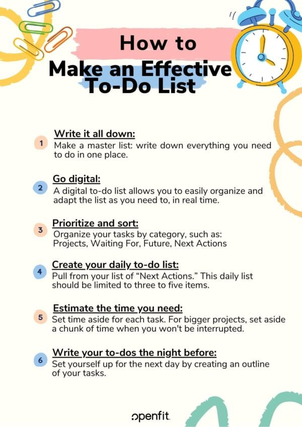 effective to do list - infographic