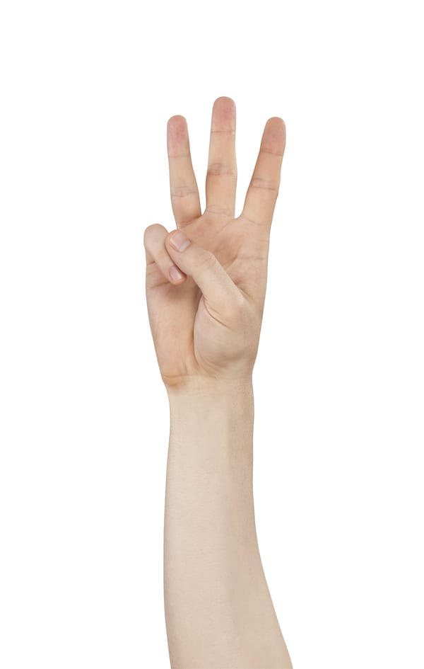 hand stretches - thumb to pinky