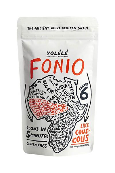 yolele fonio packaging | fonio