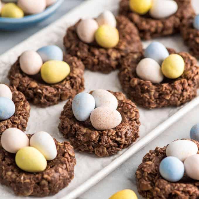 easter treats - peanut butter cookies