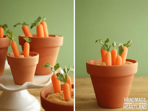 easter treats - carrots and hummus