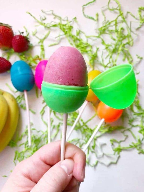 easter treats - egg popsicles