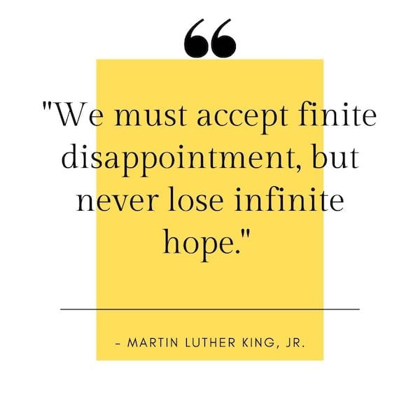 positive mindset quotes - mlk quote