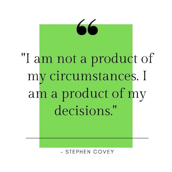positive mindset quotes - covey quote