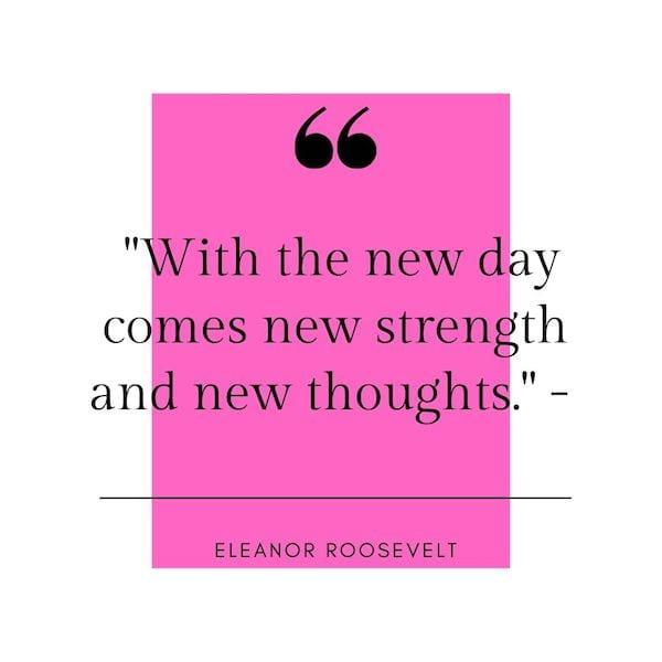 positive mindset quotes - eleanor roosevelt quote