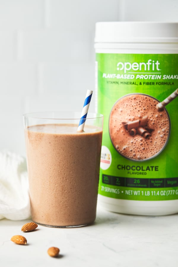openfit plant based protein - spiced chocolate almond shake