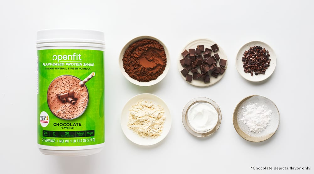 protein powder with no added sugar - Openfit Plant-Based Protein Shake