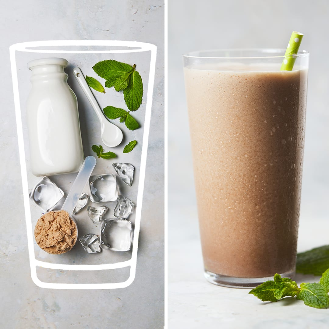 Sugar Free 3 Recipes - Thin Mint Protein Shake