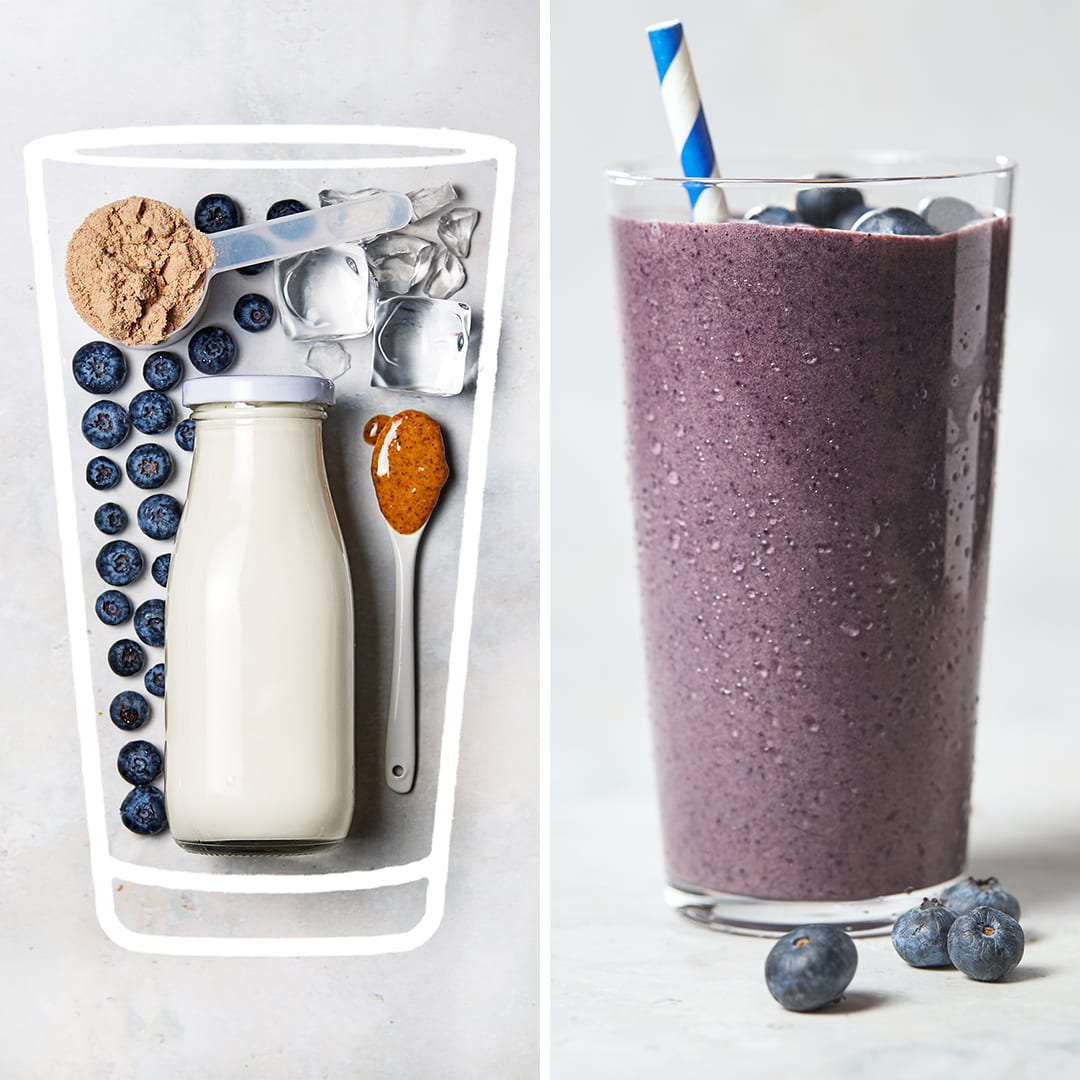 protein shake for breakfast - Blueberry Protein Shake