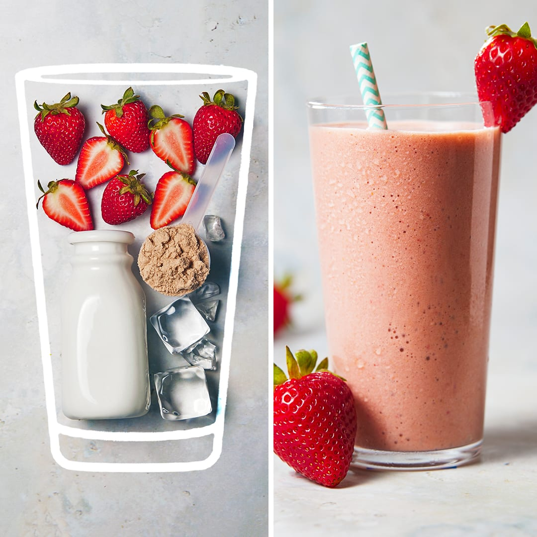 Chocolate Strawberry Protein Shake