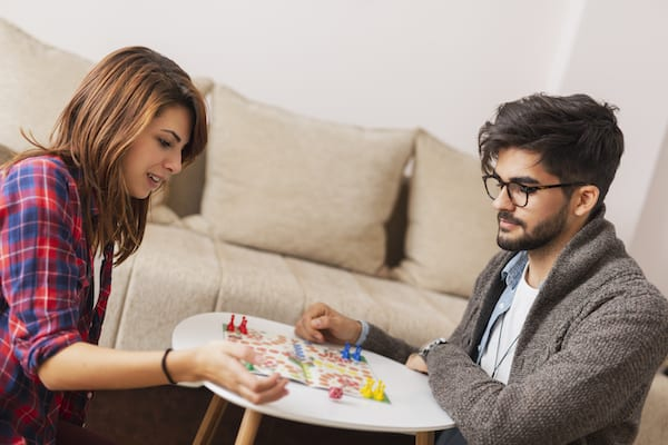 keep chin up - playing board games