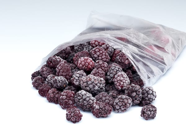 can frozen food go bad - frozen blackberries