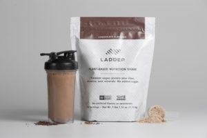 LADDER Plant Based Nutrition Shake -- protein powder with no added sugar