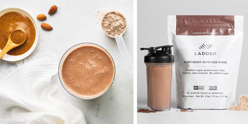 spiced almond ladder plant-based chocolate shake