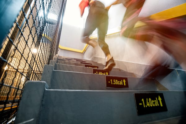 train for an obstacle course - running up stairs