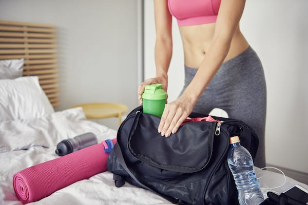 benefits of protein shakes - loading gym bag
