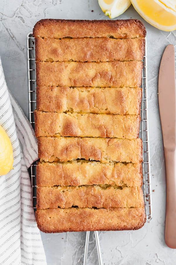 Healthier Lemon Loaf Recipe - slices