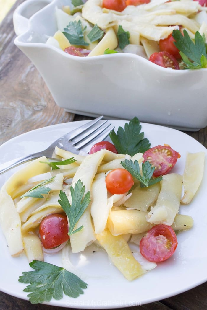 healthy summer recipes - Yellow Pole Bean Salad