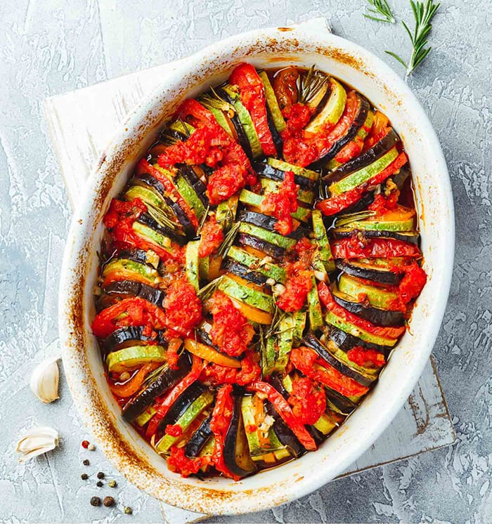 healthy summer recipes - Classic French Ratatouille