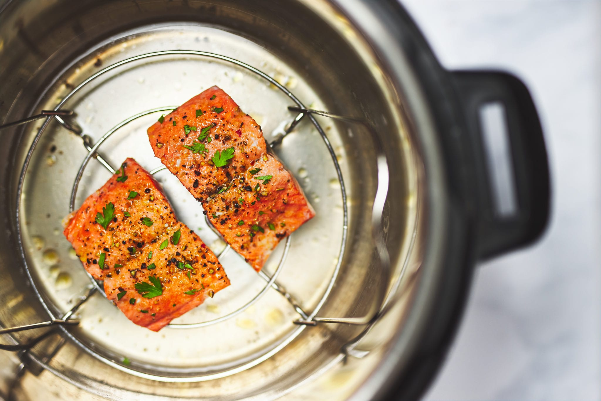 how to cook salmon - salmon in pressure cooker