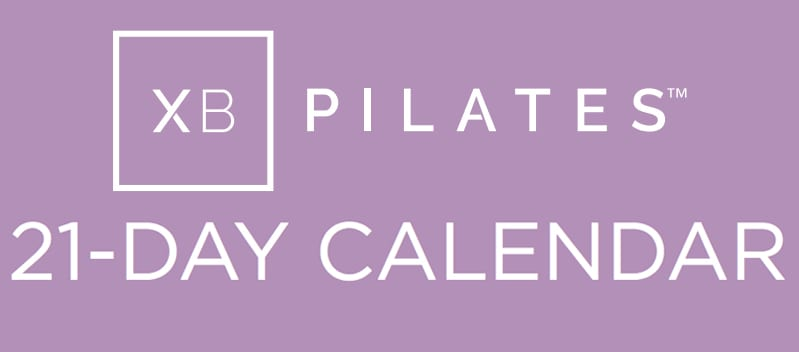XB Pilates 21-day calendar