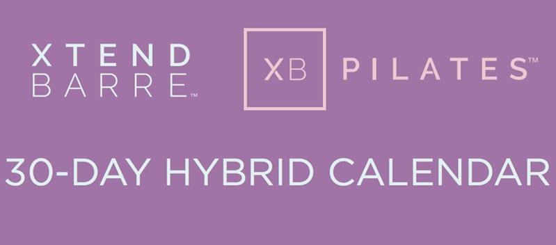 Xtend Barre-XB Pilates 30-day calendar