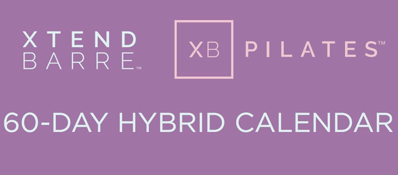 Xtend Barre-XB Pilates 60-day calendar