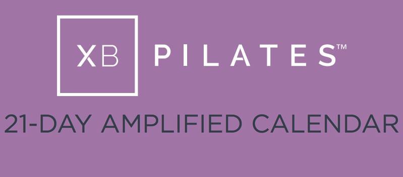XB Pilates 21-day amplified calendar