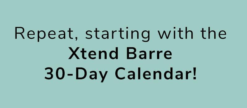 Xtend Barre Calendars