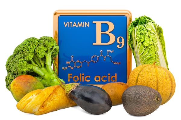 what is folate - folic acid with vegetables