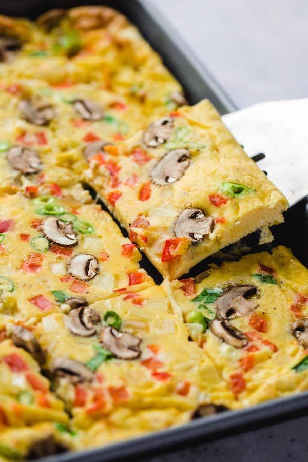 kid friendly meal preps - sheet pan eggs