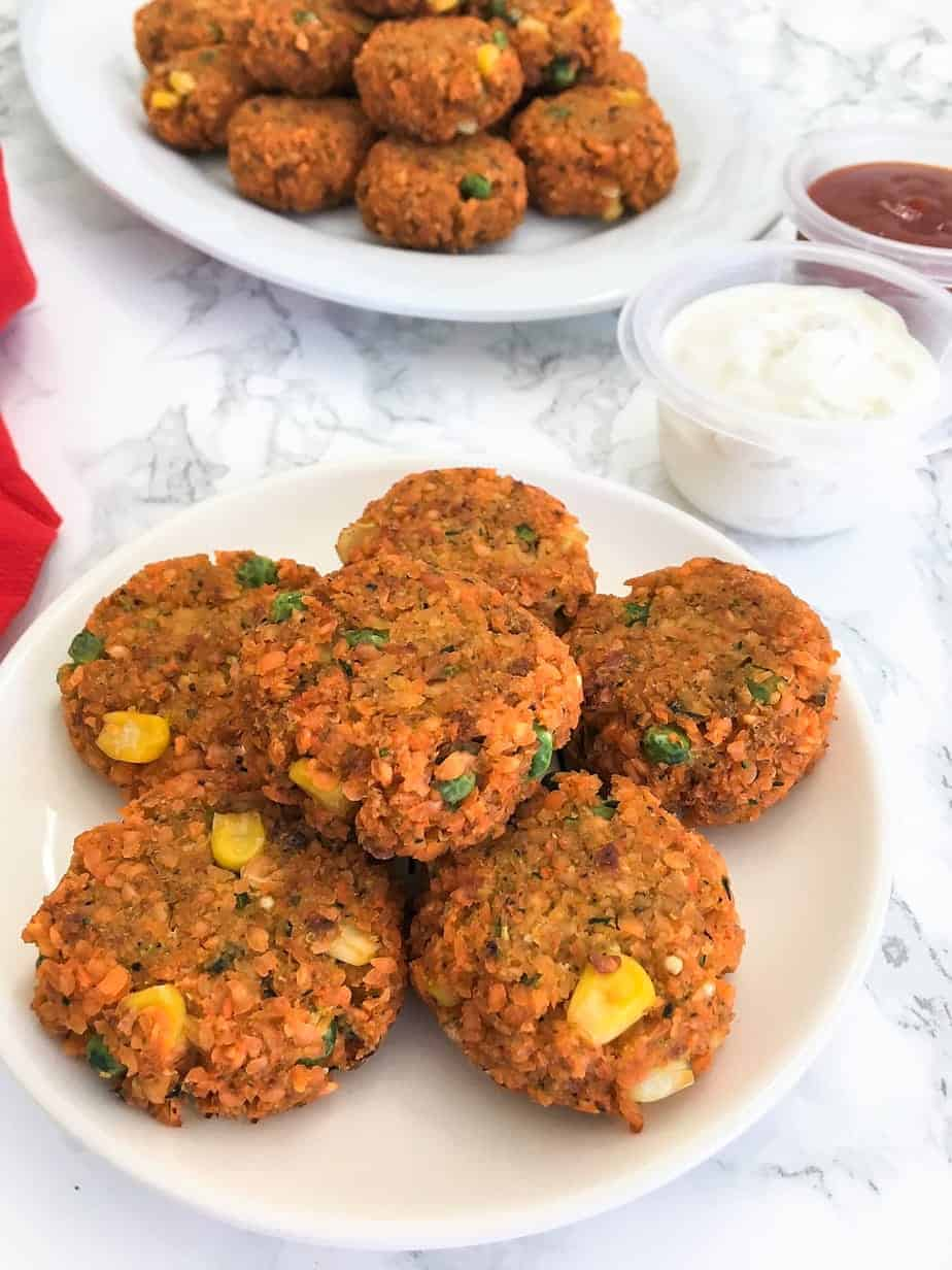 kid friendly meal preps - lentil veggie nuggets