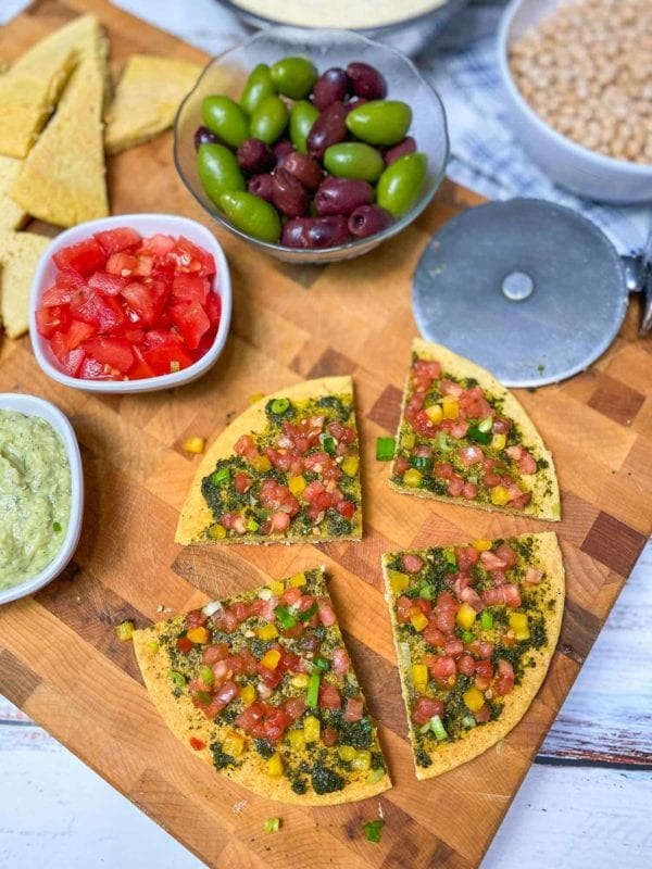 kid friendly meal preps - chickpea flatbread