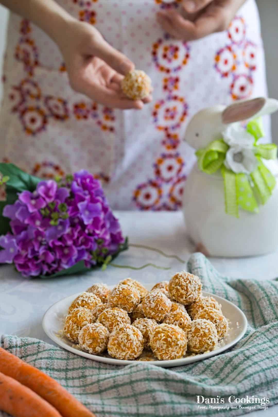 kid friendly meal preps - raw carrot truffle