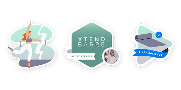 openfit badges - three badges xtend barre