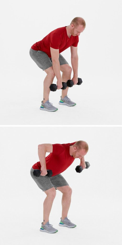 Back workout at home - wide bent over row