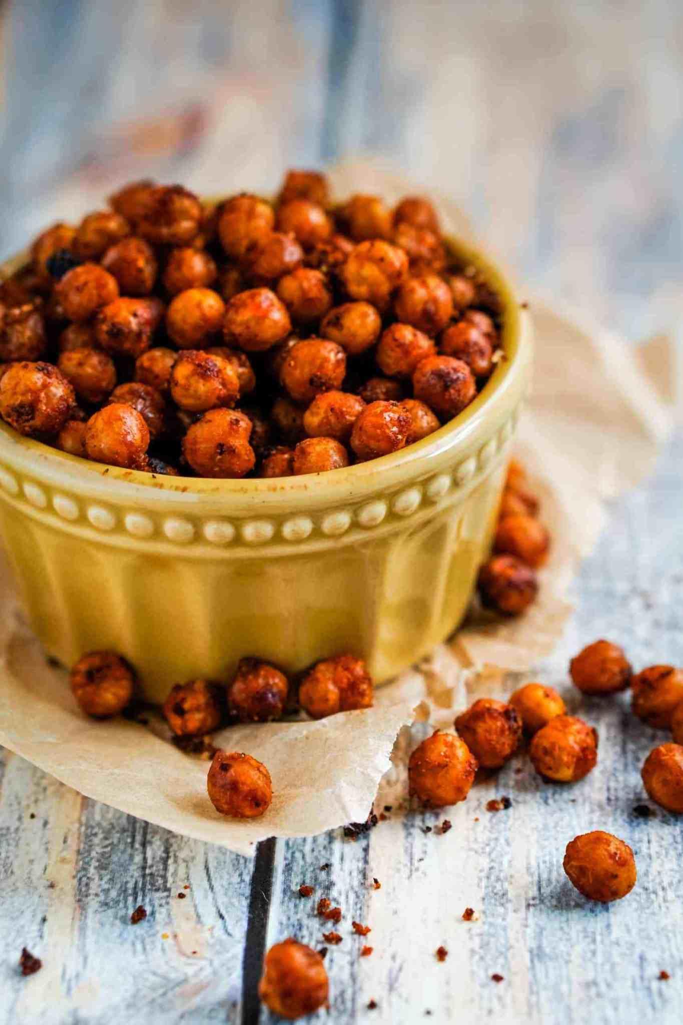 chickpea recipes - roasted chickpeas