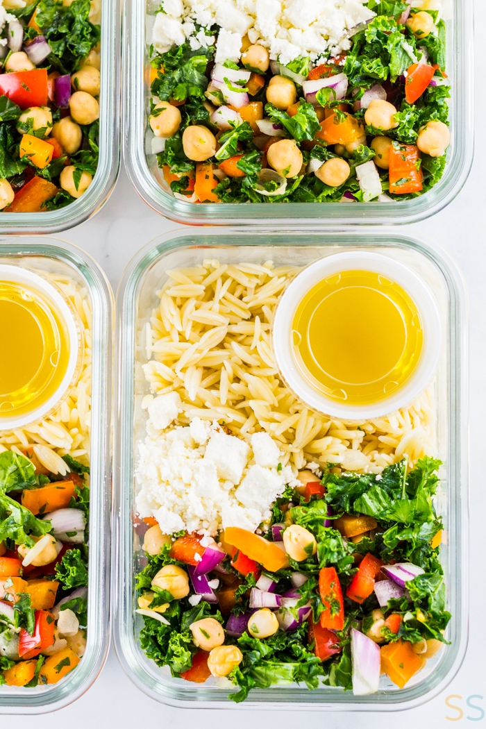chickpea recipes - chickpea orzo salad