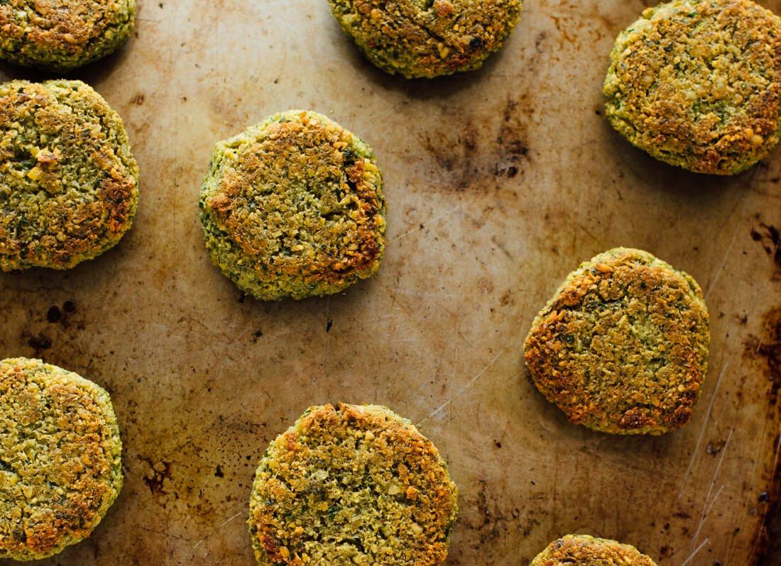 chickpea recipes - baked falafel