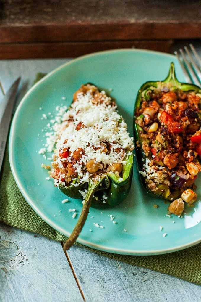 chickpea recipes - stuffed peppers