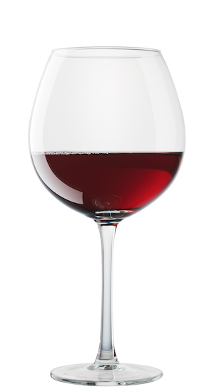 sugar in wine - red wine in glass