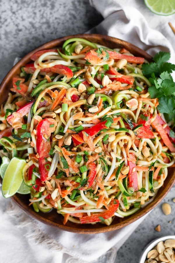 vegan recipes - raw pad thai