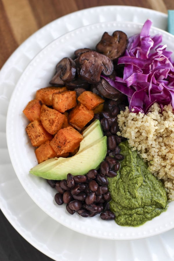 vegan recipes - skinny quinoa bowl
